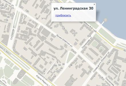 Схема проезда на Ленинградскую 20, Днепропетровск