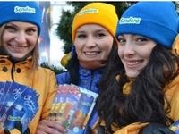 В Киеве возле елки пили безалкогольные глинтвейны