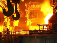 Украинские сталевары уменьшили выпуск продукции на 9,4%