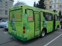 Первый украинский электрический автобус прошел тестовые испытания в Луцке