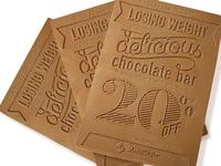 Южноафриканские рекламщики разработали в рамках программы потери веса шоколадные флаеры