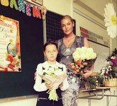 Волочкова отвела дочь в новую школу