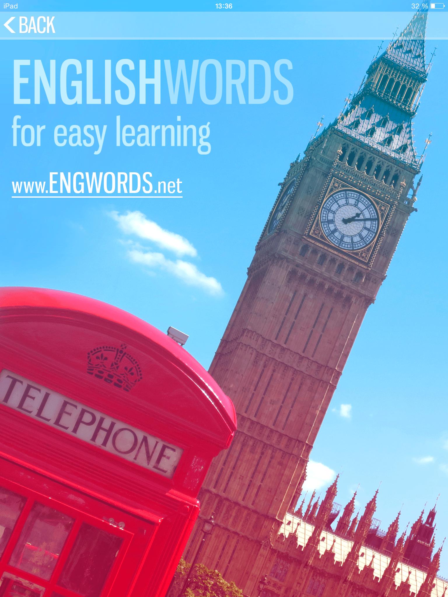 Приложение 3500 English Words доступно на iOS